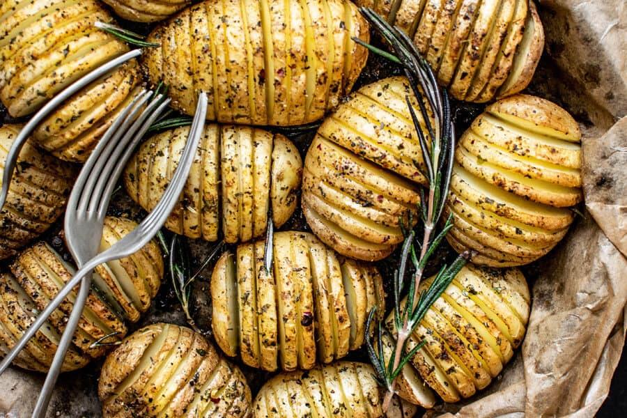 Patatas en una bandeja de horno - Valor nutricional de las patatas