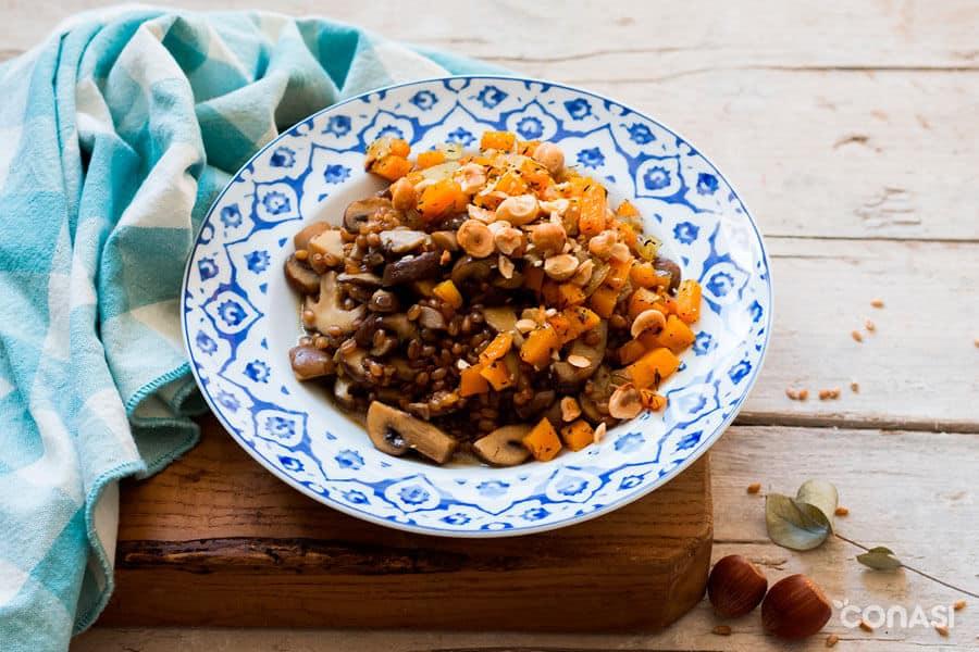 Risotto de trigo, un ejemplo de cereales saludables