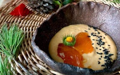 Mousse de mandarina y caqui - Menú Vital Navideño