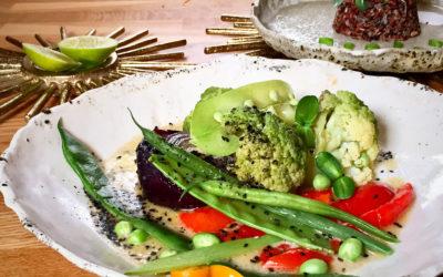 Curry verde Thaikito con timbal de arroz - Menú Vital Navideño