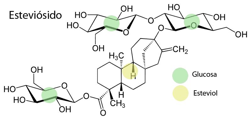 Esteviósido, una de las principales sustancias dulces de la estevia