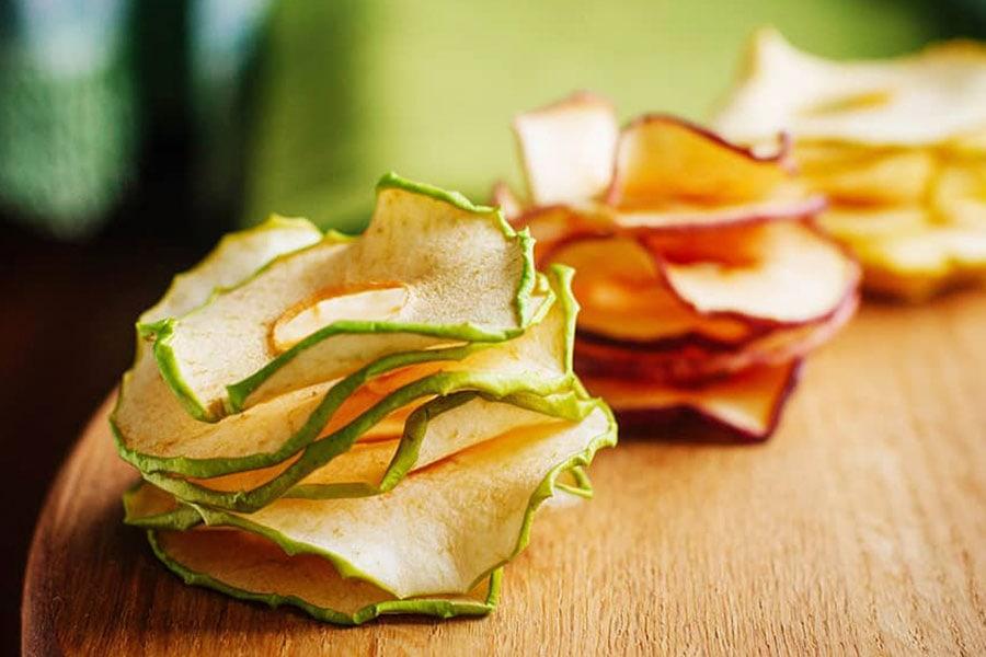 Frutas deshidratadas laminadas