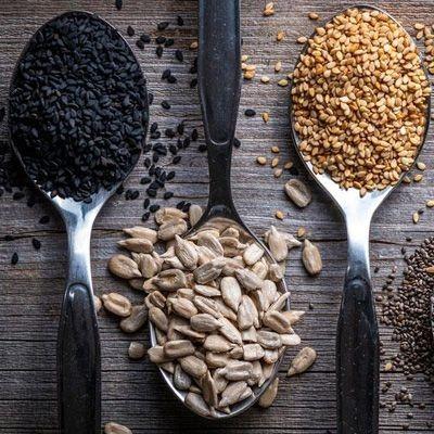 Semillas, frutos secos y chufa