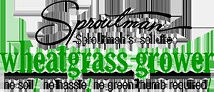 Logo de Sproutman, germinador de hierba de trigo